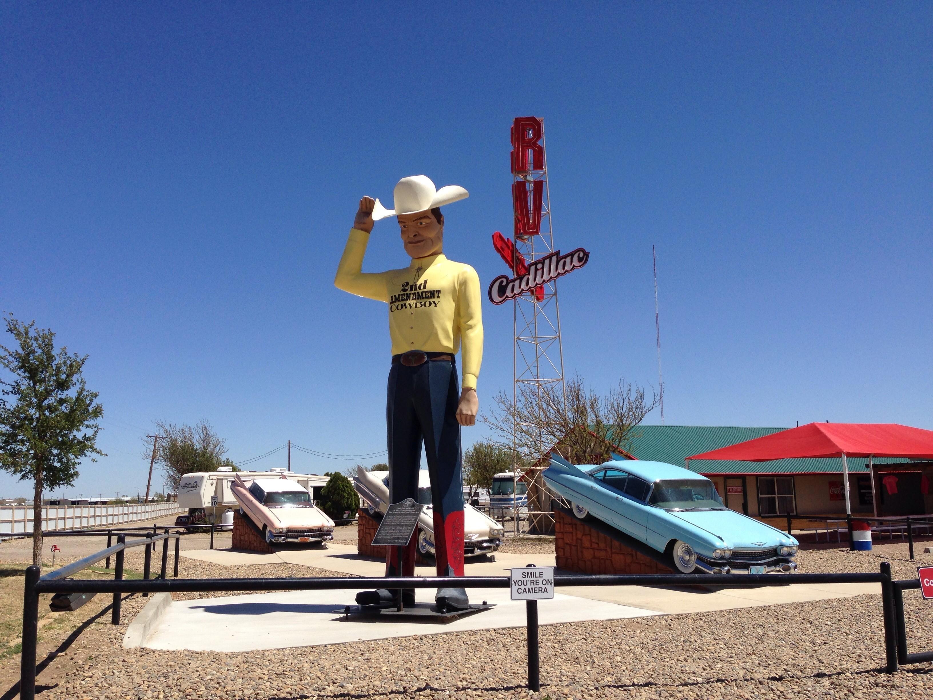 Muffler Man - 2nd Amendment Cowboy