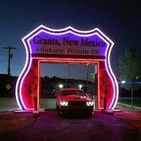 Route 66 Neon Drive-Thru Sign