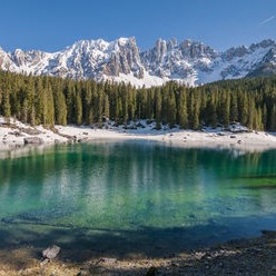 Carezza Rainbow Lake
