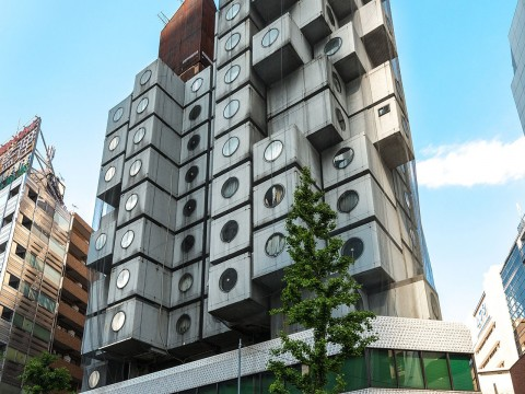 Nakagin Capsule Tower , By Jordy Meow - Own work, CC BY-SA 3.0, https://commons.wikimedia.org/w/index.php?curid=31395049