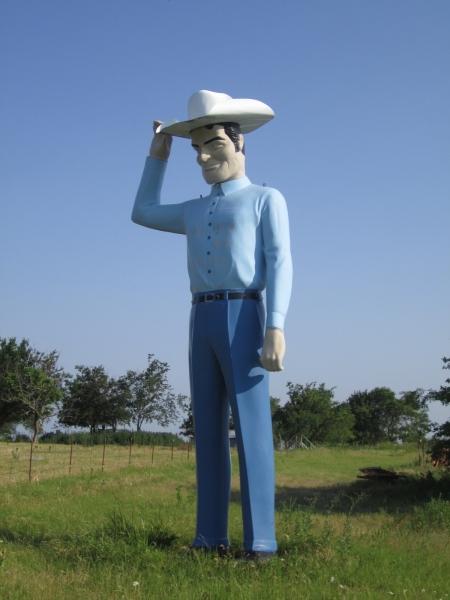 Muffler Man Cowboy, Sherman