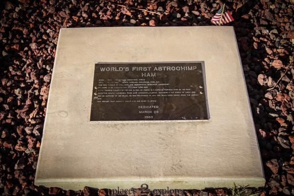 Grave of Ham the Astrochimp