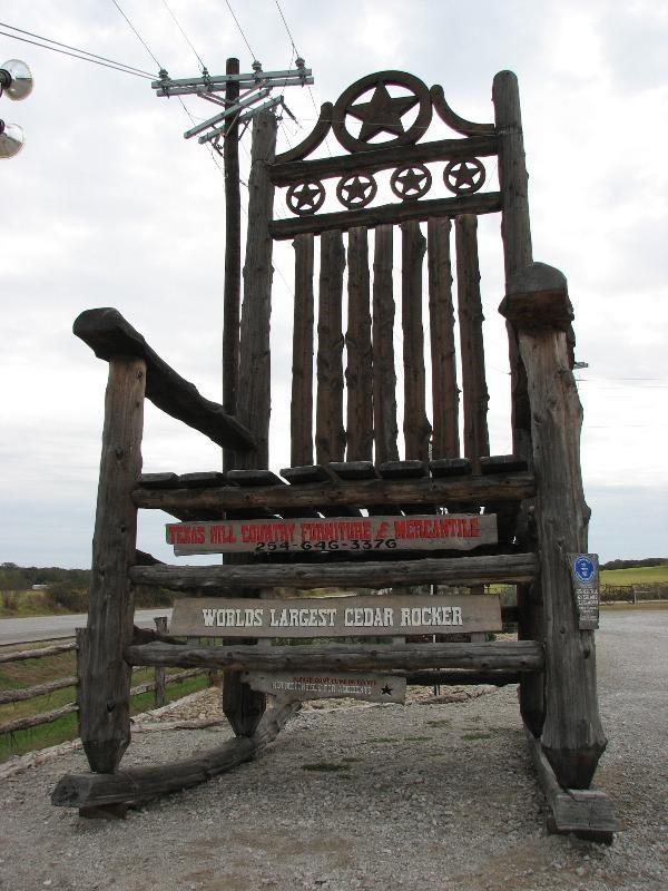Worlds Tallest Rocking Chair